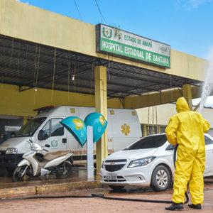 Complexo hospitalar de Santana passa por desinfeção contra o novo coronavírus