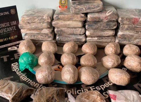 Polícia Civil apreende 31 quilos de drogas em Macapá