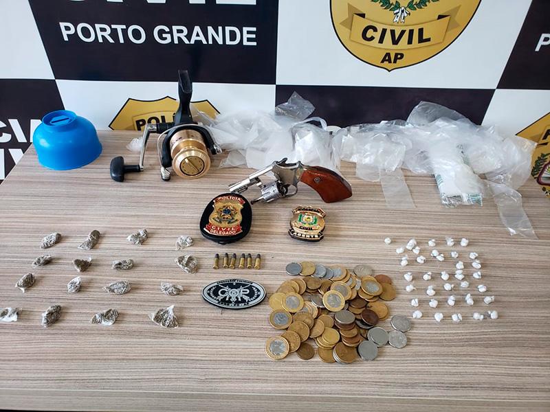 Com a prisão do pai, irmãos assumem boca de fumo em Porto Grande