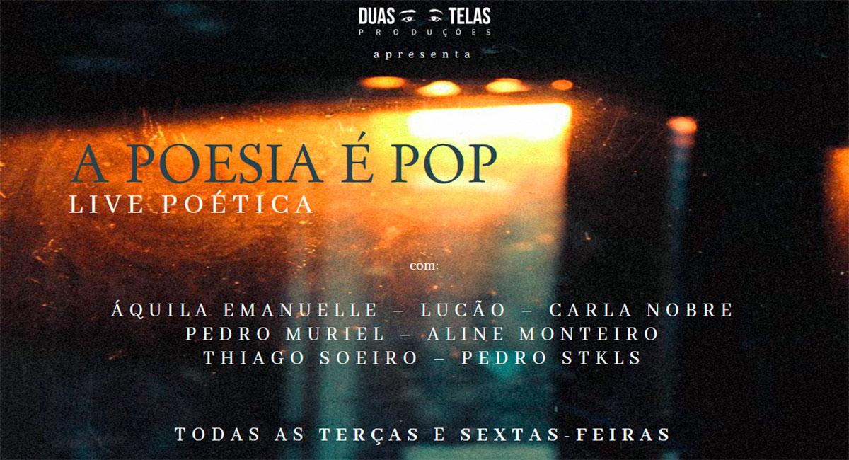 Poetas brasileiros mostram seus olhares e visões poéticas em série de lives