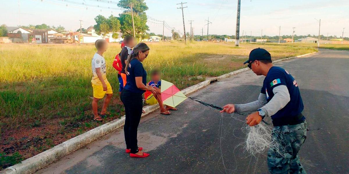 Prefeitura de Santana intensifica fiscalização para combater uso de pipas e linhas com cerol