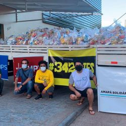 Movimento Amapá Solidário, MPT e UNOPS entregam cestas para comunidades indígenas