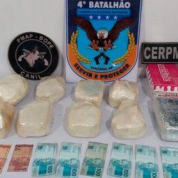 PM apreende quase 10 quilos de drogas em Santana