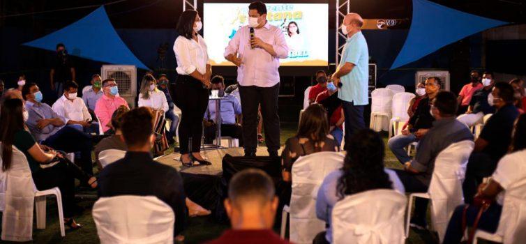 Com a presença de Davi, Bala Rocha é anunciado como candidato a prefeito de Santana
