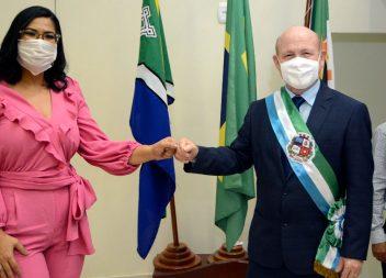 Empossado, Bala Rocha diz que vai adotar medidas mais duras no combate à Covid-19