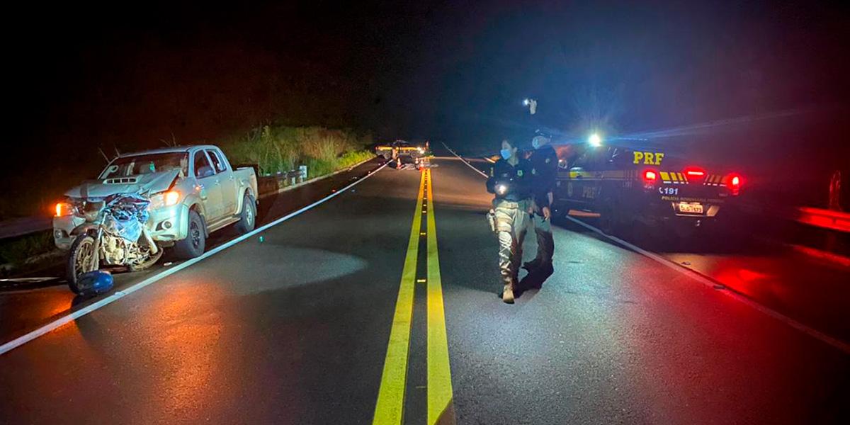 Colisão entre carro e moto deixa uma pessoa morta na BR-156