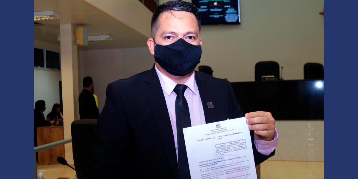 Vereador propõe que condenados por feminicídio ou violência doméstica não possam assumir cargos públicos em Santana