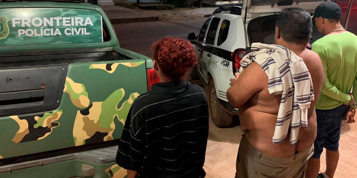 Polícia Civil prende três pessoas por tráfico de drogas em Oiapoque