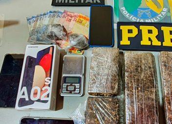 PRF e PM apreendem mais de dois quilos de drogas em Oiapoque