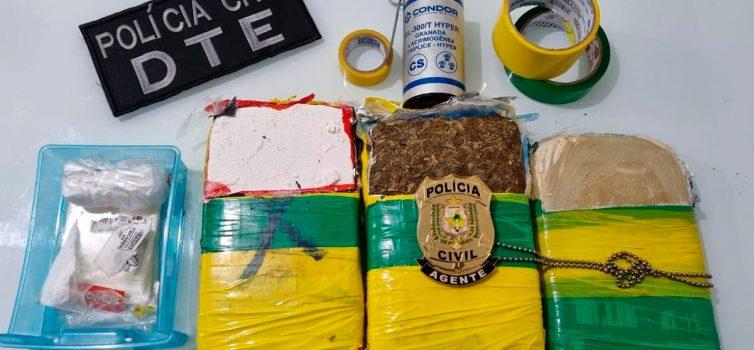 Em menos de 24 horas, DTE realiza segunda apreensão de drogas