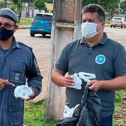 Asmeap realiza mais uma entrega de kits vitamínicos a militares