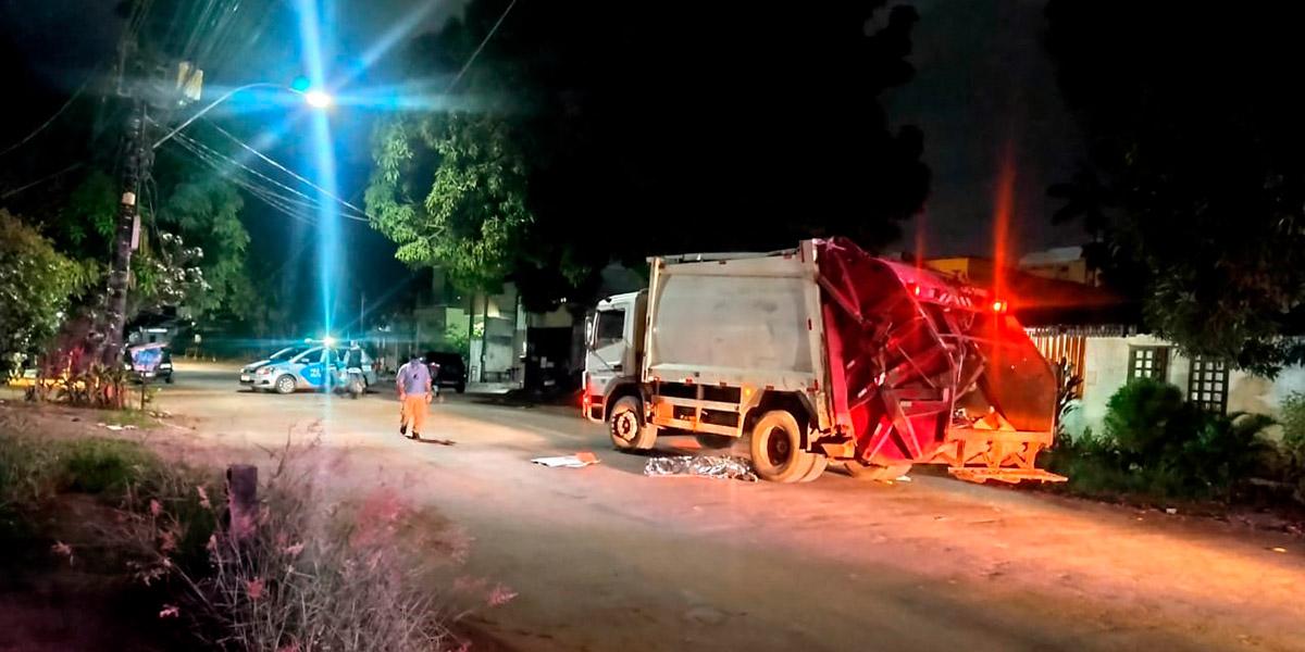 Gari morre após ser atropelado por caminhão coletor de lixo