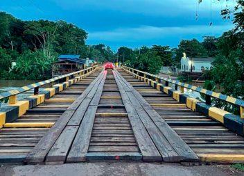 Setrap finaliza reforma na ponte do Anauerapucu