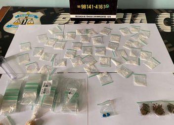 Polícia Civil apreende drogas e prende traficante que estava em liberdade provisória