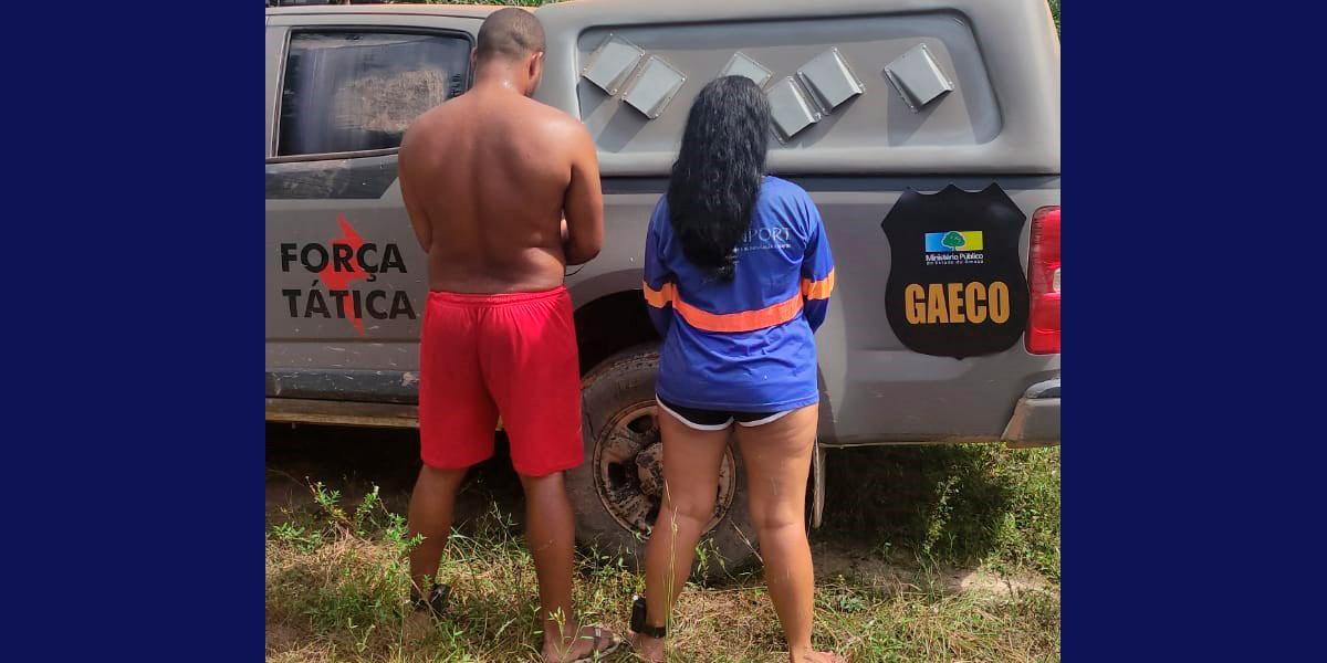 Casal é preso em flagrante após operação conjunta em Mazagão