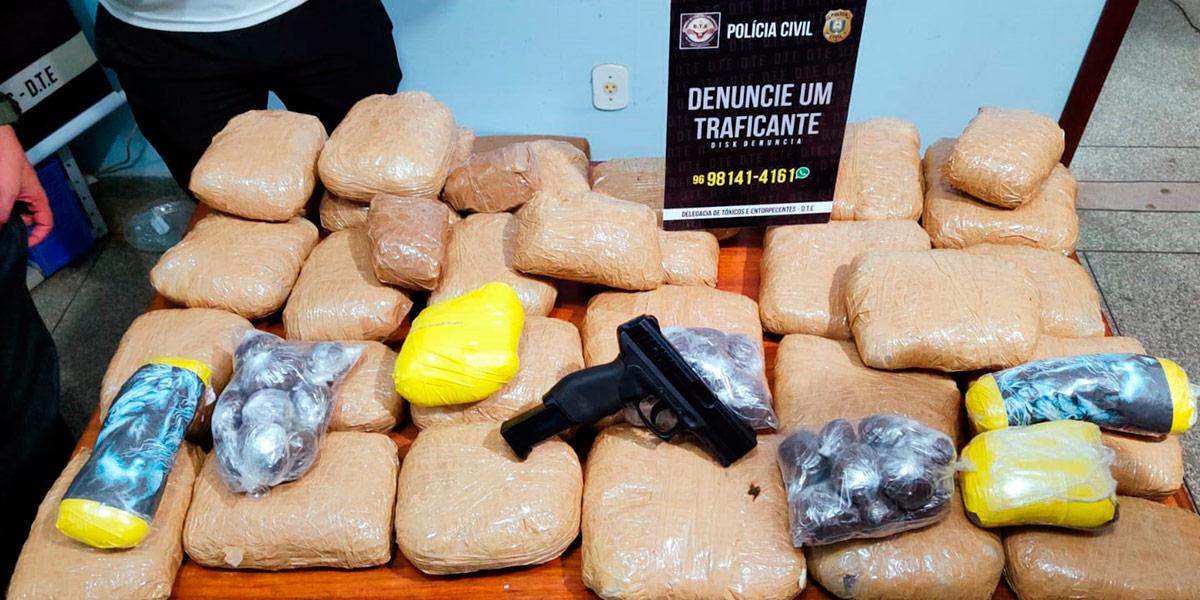 Polícia Civil apreende 30 quilos de maconha e cocaína em Macapá