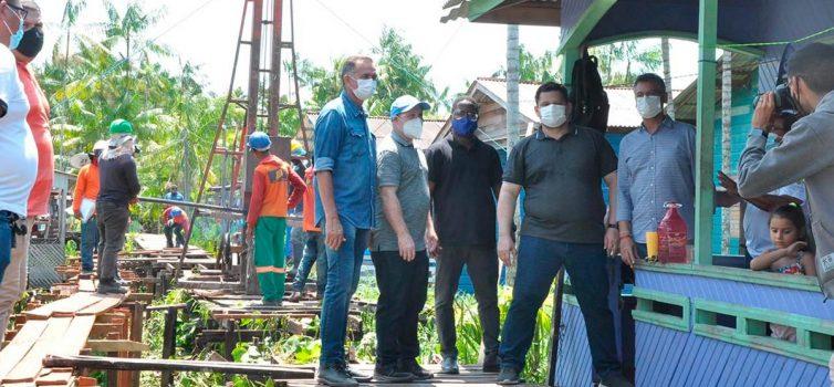 Waldez, Bala, Davi e Clécio cumprem agenda em Santana