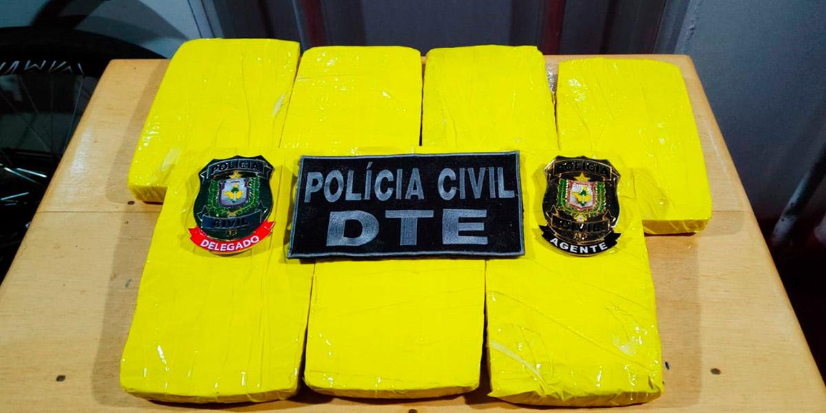 Polícia Civil apreende sete quilos de drogas dentro de embarcação