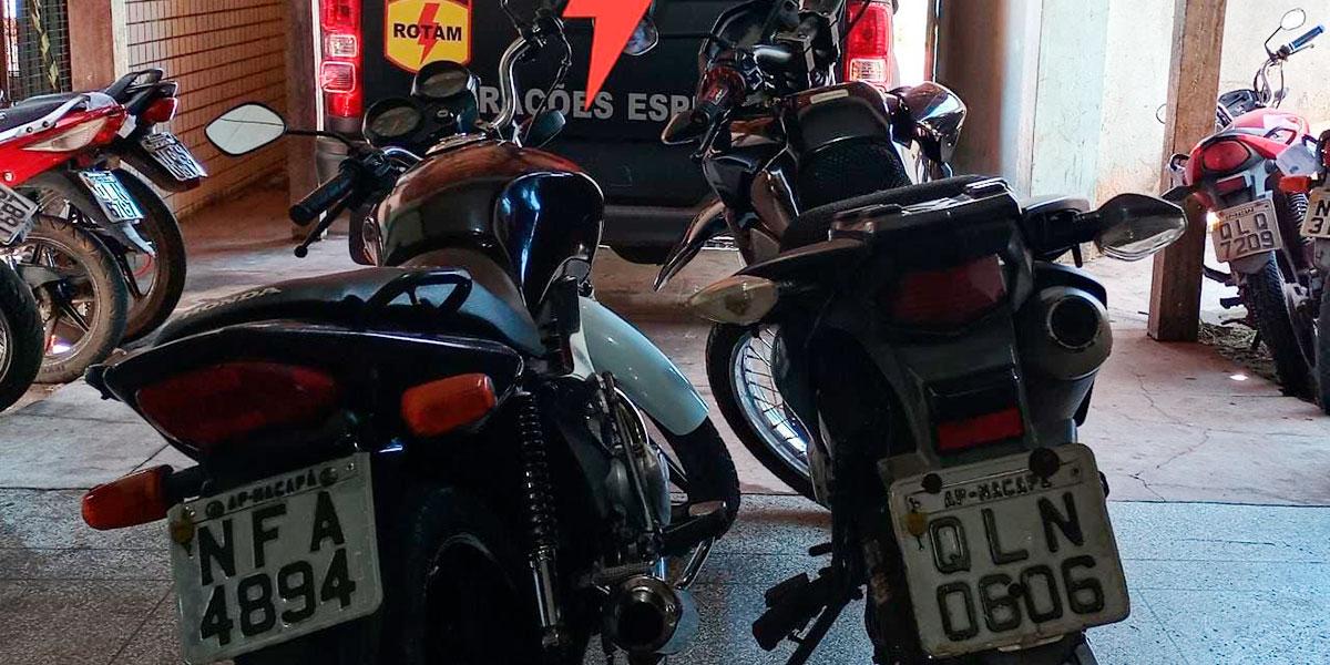 Bope recupera motos roubadas, apreende drogas e prende quatro suspeitos