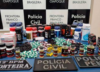 Em Oiapoque, motorista é preso com três mil comprimidos de anabolizantes